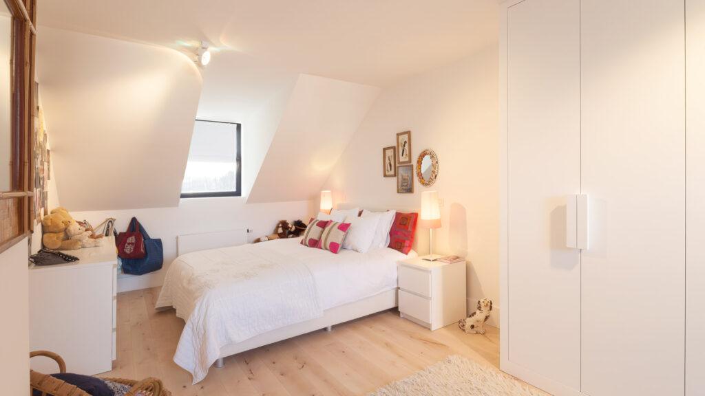 Slaapkamer op zolderverdieping.
